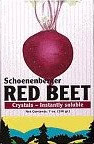 schoenenberger red beet crystals