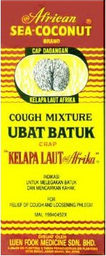 african sea coconut, cough syrup