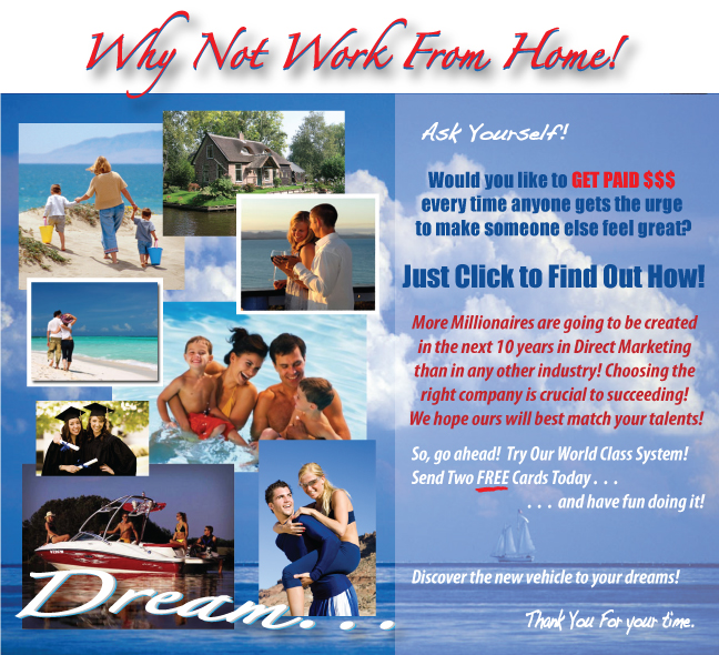 Work from home in the greeting card industry business